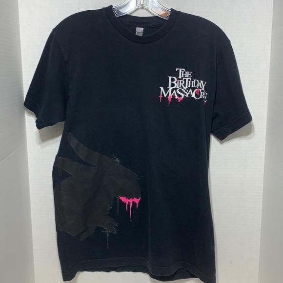 The Birthday Massacre Fashion Women Short Sleeves Crop Top Tee Shirts Tops